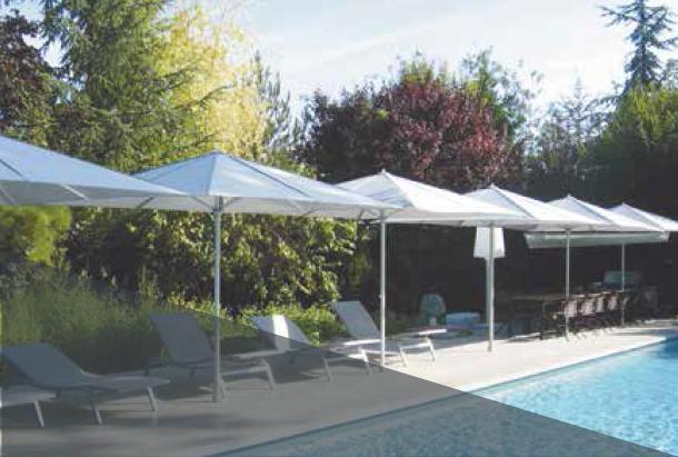 Parasol pour terrasse de piscine Extérieur Confort Valence Montélimar